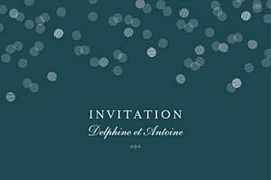 Carton d'invitation mariage vert polka canard