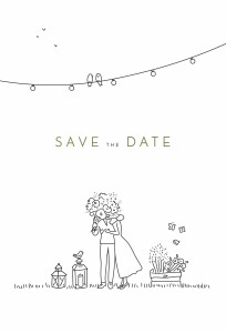 Save the Date Promesse bohème blanc