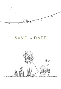 Save the date original promesse bohème blanc