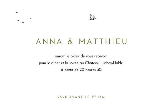 Carton d'invitation mariage Promesse bohème blanc - Page 2
