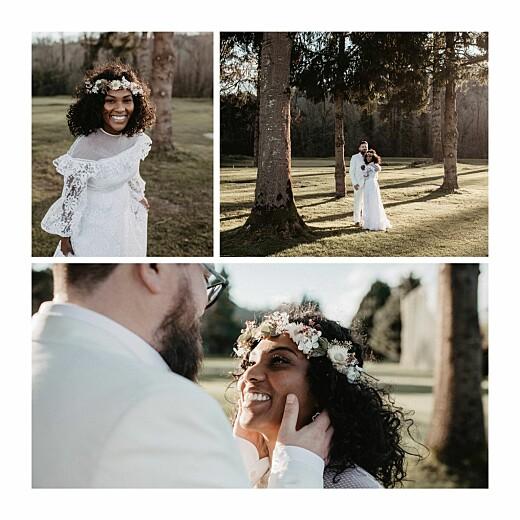 Carte de remerciement mariage Promesse bohème (4 pages) blanc - Page 2