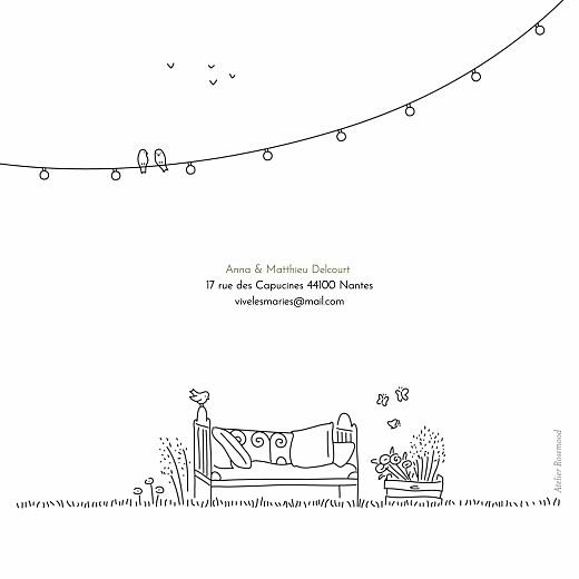 Carte de remerciement mariage Promesse bohème (4 pages) blanc - Page 4