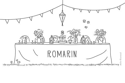 Marque-table mariage Promesse bohème blanc - Page 2