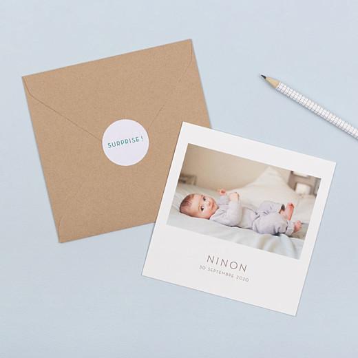 Stickers pour enveloppes naissance Simplement vert - Gamme