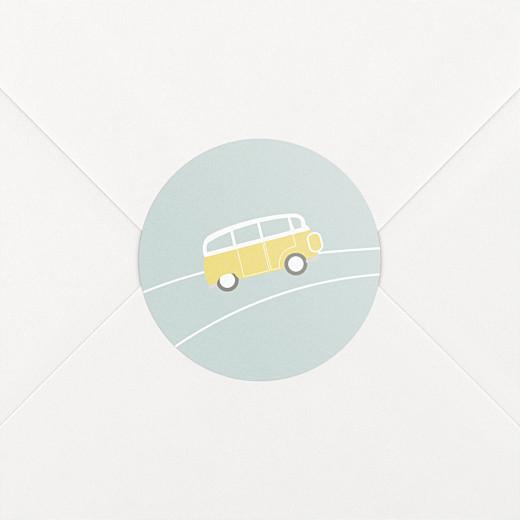 Stickers pour enveloppes naissance Sunshine jade - Vue 2