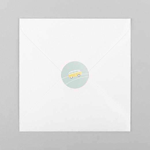 Stickers pour enveloppes naissance Sunshine jade - Vue 1