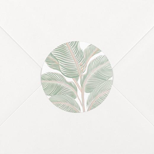 Stickers pour enveloppes mariage Equateur vert - Vue 2