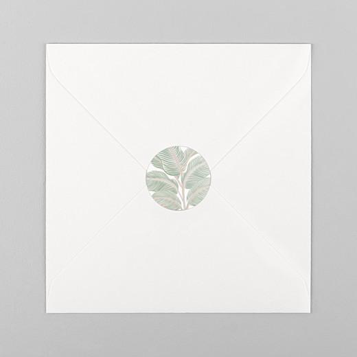 Stickers pour enveloppes mariage Equateur vert - Vue 1