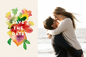 Save the date beige bloom beige