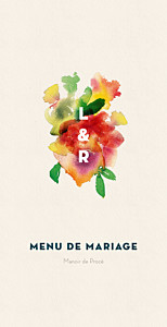 Menu de mariage bloom beige