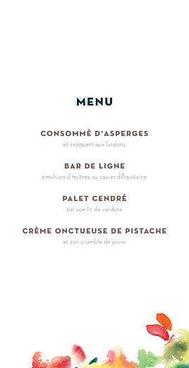 Menu de mariage Bloom beige - Page 3