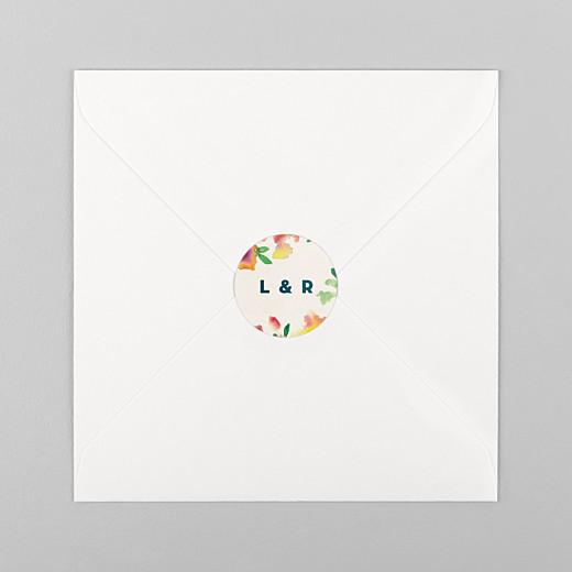 Stickers pour enveloppes mariage Bloom beige - Vue 1