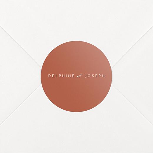 Stickers pour enveloppes mariage Manuscrit rouge - Vue 2