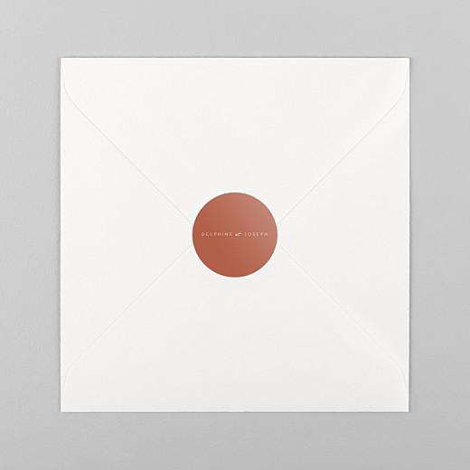 Stickers pour enveloppes mariage Manuscrit rouge - Vue 1