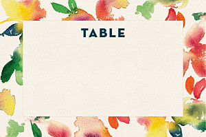 Marque-table mariage bloom beige