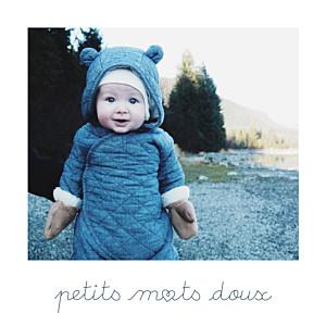 Carte de remerciement petits mots doux photo blanc