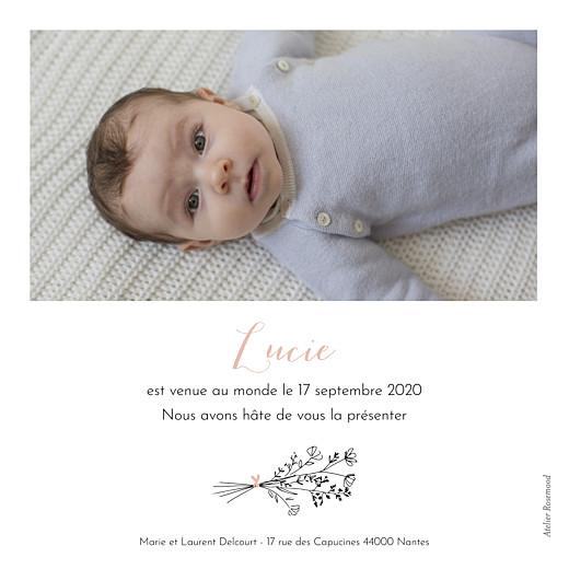 Faire-part de naissance Sieste sur l'herbe rv rose - Page 2