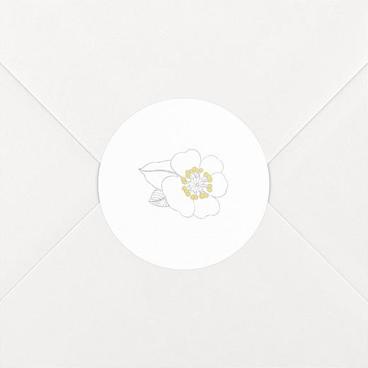 Stickers Naissance Couronne de fleurs blanc - Vue 2