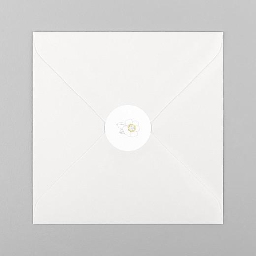 Stickers Naissance Couronne de fleurs blanc - Vue 1