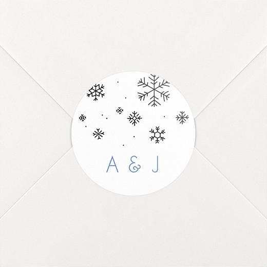 Stickers pour enveloppes mariage Promesse d'hiver blanc - Vue 2