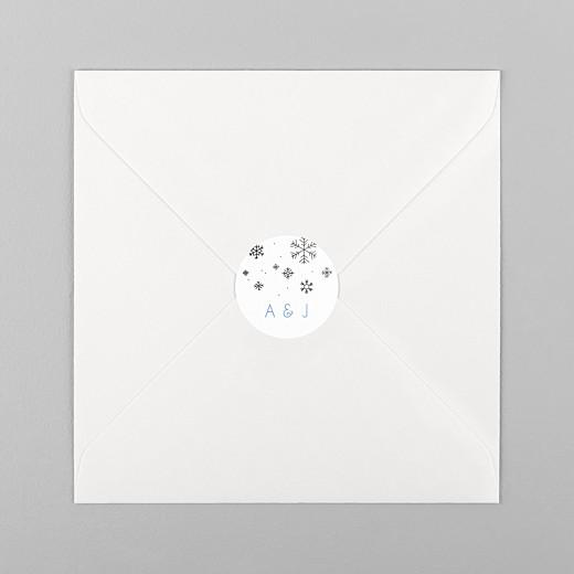 Stickers pour enveloppes mariage Promesse d'hiver blanc - Vue 1