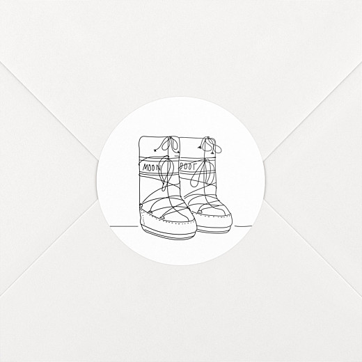 Stickers mariage Promesse d'hiver blanc - Vue 2