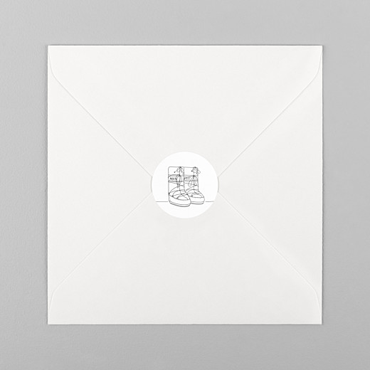 Stickers mariage Promesse d'hiver blanc - Vue 1