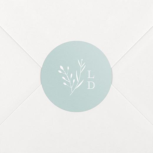 Stickers pour enveloppes naissance Fable bleu - Vue 2