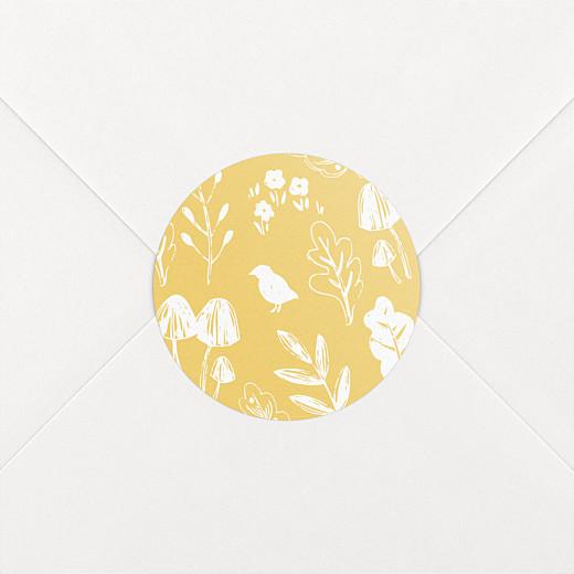 Stickers Naissance Fable jaune - Vue 2