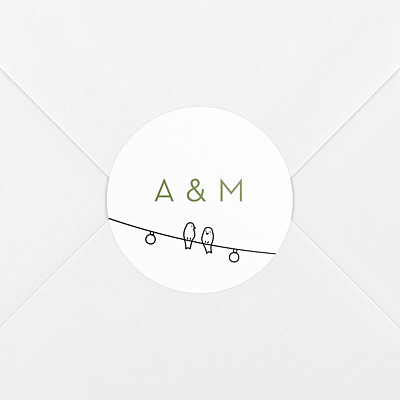 Stickers mariage promesse bohème blanc
