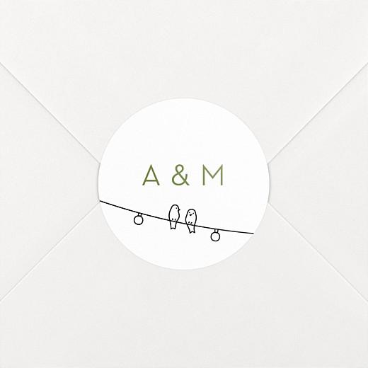 Stickers mariage Promesse bohème blanc - Vue 2