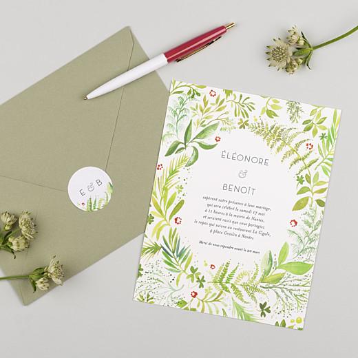 Stickers pour enveloppes mariage Murmure de forêt vert - Gamme