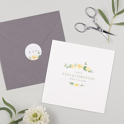Stickers pour enveloppes mariage Jardin anglais vert - Gamme