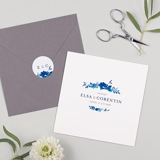 Stickers mariage Jardin anglais bleu - Gamme