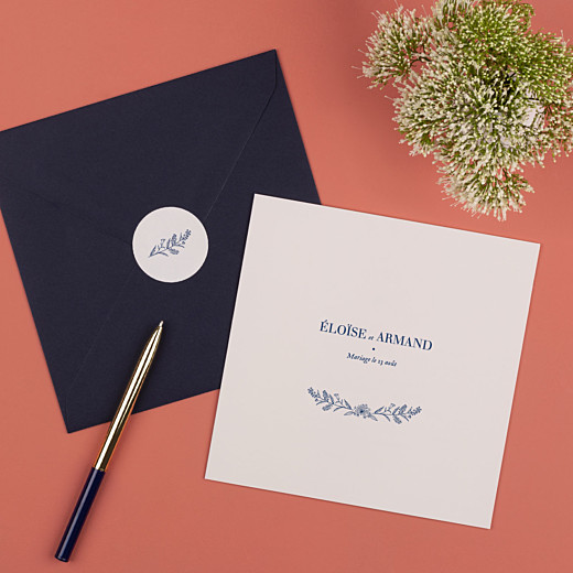 Stickers pour enveloppes mariage Nature chic beige - Gamme