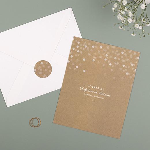 Stickers pour enveloppes mariage Polka kraft - Gamme