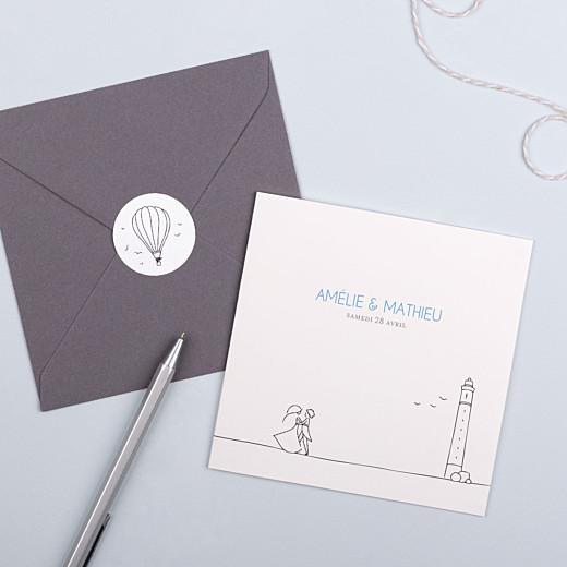 Stickers pour enveloppes mariage Promesse champêtre montgolfière - Gamme