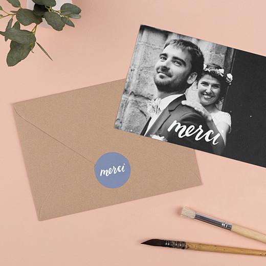 Stickers pour enveloppes mariage Merci bleu - Gamme
