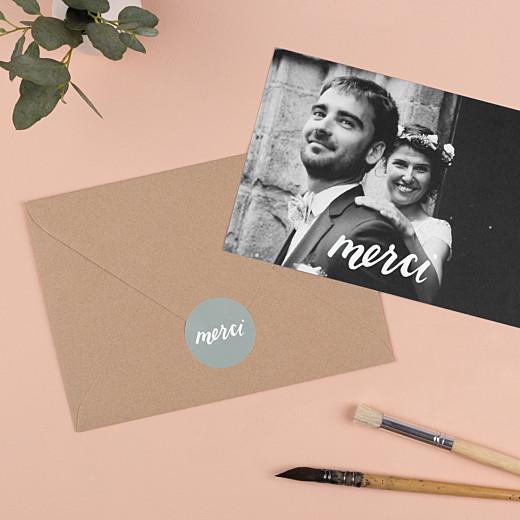 Stickers mariage Merci vert - Gamme