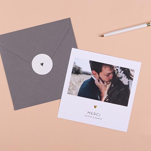 Stickers pour enveloppes mariage Élégant cœur blanc - Gamme