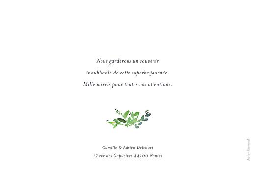 Carte de remerciement mariage Canopée vert - Page 2