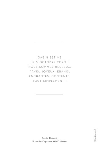 Faire-part de naissance Galerie pleine page (dorure) blanc - Page 2