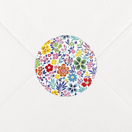 Stickers Naissance Mille fleurs multi-couleur - Vue 2