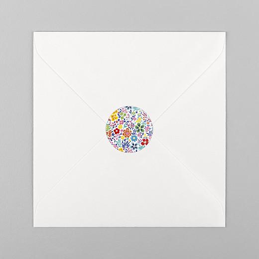 Stickers Naissance Mille fleurs multi-couleur - Vue 1