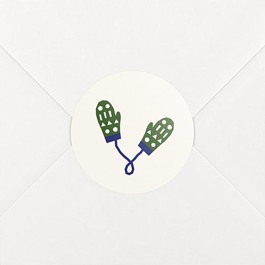 Stickers vœux Festif beige - Vue 2