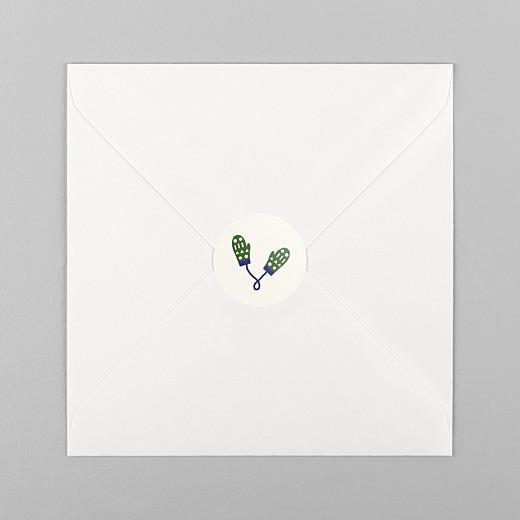 Stickers vœux Festif beige - Vue 1