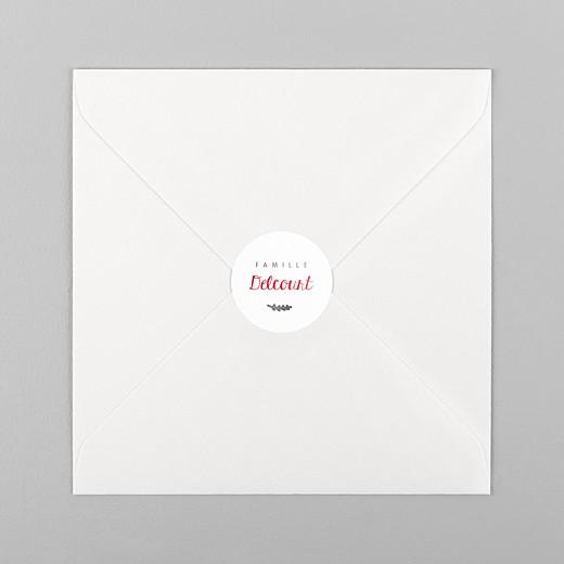 Stickers pour enveloppes vœux Feuillage d'hiver blanc - Vue 1