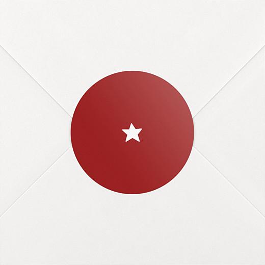Stickers vœux Elégant étoile rouge - Vue 2