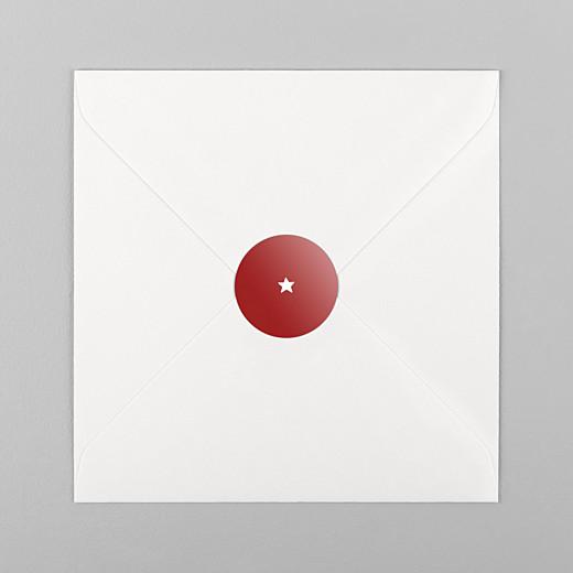 Stickers vœux Elégant étoile rouge - Vue 1