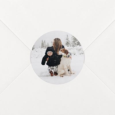 Stickers vœux photo blanc